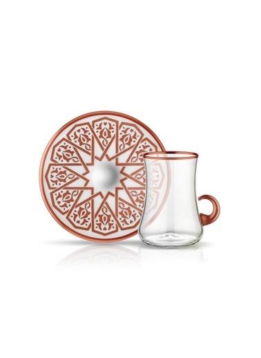 Koleksiyon Dervısh Selçuklu Bakır Kulplu 6 Kişilik Çay Seti Renkli